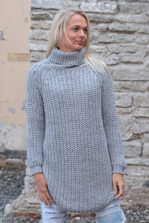 COZY TURTLENECK KAMPSUN, LIGHT GREY