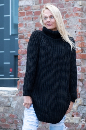 COZY TURTLENECK KAMPSUN, BLACK