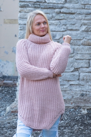 COZY TURTLENECK KAMPSUN,PINK