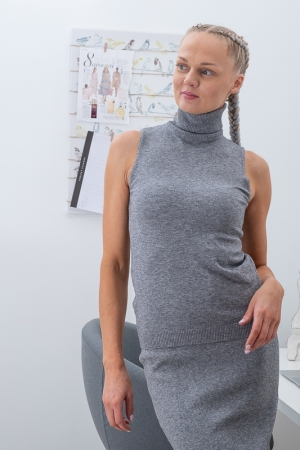 CANNOVA TURTLENECK,GREY