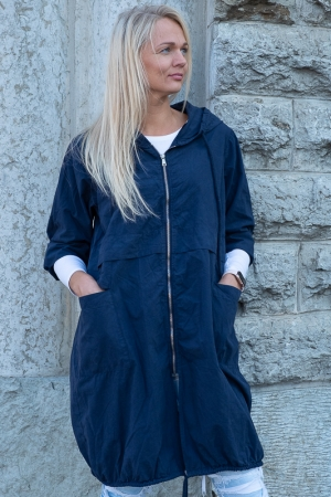 GIVE ME WIND HOODED JACKET, NAVYBLUE