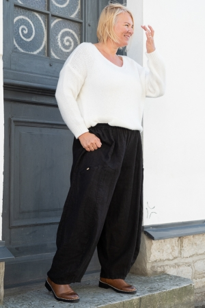 MENDOZA LINEN TROUSERS, BLACK